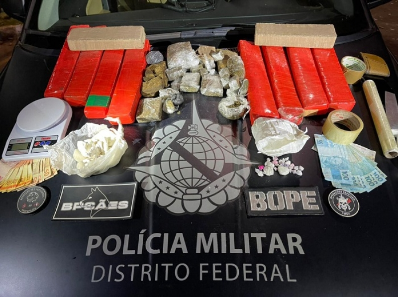 PMDF apreende mais de 11Kg de drogas em São Sebastião