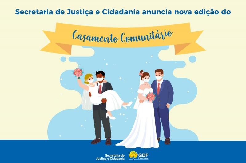 Secretaria de Justiça e Cidadania anuncia nova edição do Casamento Comunitário